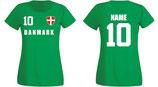 Dänemark WM 2018 T-Shirt Damen Grün