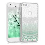 Crystal Hülle Case Google Pixel Sonne Mintgrün