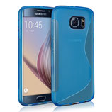TPU Case Samsung Galaxy S6 Edge Blau