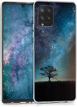 TPU Case Hülle Samsung Galaxy A42 Galaxie