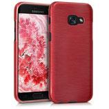 TPU Case Brushed Aluminium Design Samsung Galaxy A3 2017 Rosegold