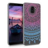 TPU Case Samsung Galaxy J6 Sonne Blau-Pink