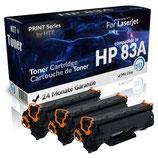 2x Toner Schwarz HP-83A CF283A Laserjet