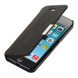 Flip Case Hülle für Apple iPhone SE / 5 / 5S Schwarz