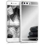 Spiegel Hülle Case Huawei P10 Silber