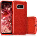 Crystal Case Samsung Galaxy S8 Glitzer Rot