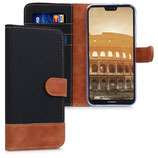 Wallet Case Huawei P20 Lite Schwarz Braun