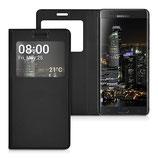 Flip Case Samsung Galaxy Note 7 Fenster Schwarz