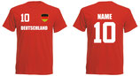 Deutschland WM 2018 T-Shirt Name/Druck Rot