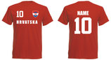 Kroatien WM 2018 T-Shirt Kinder Rot