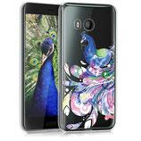 TPU Silikon Case Hülle HTC U11 Pfau