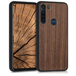 Holz Case Hülle Motorola Moto G8 Power