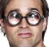 Brille die die Augen vergrössert Idiot