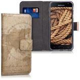 Wallet Case Samsung Galaxy J3 2017 Weltkarte