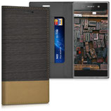 Bookstyle Hülle Sony Xperia XA1 Braun