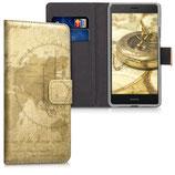 Wallet Case Hülle Huawei P9 Lite Weltkarte