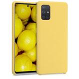 TPU Case Samsung Galaxy A71 Gelb matt
