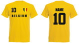 Belgien WM 2018 T-Shirt Druck/Name Gelb