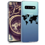 TPU Case Hülle Samsung Galaxy S10 Weltkarte