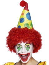 Clownhut Haar Blume Hut Fasching