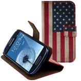 Leder Tasche Samsung Galaxy S3 Mini USA