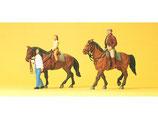 Preiser 10501 Hobbyreiter mit 2 Pferden H0