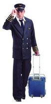 Pilotenkostüm für Herren
