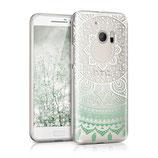 Crystal TPU Case HTC 10 Indische Sonne Mint Grün