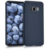 TPU Silikon Case Samsung Galaxy S8 Dunkelblau matt
