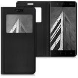Flipcover Case Nokia 5 Schwarz Fenster
