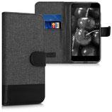 Wallet Case Xiaomi Redmi 4X Canvas Schwarz