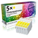 5x Tintenpatronen Epson T1284 Gelb