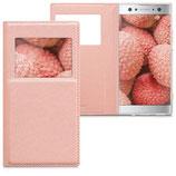Flip Case Sony Xperia XA2 Ultra Fenster Rosegold