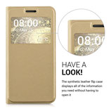 Flip Case Cover Hülle LG G5 Gold Fenster