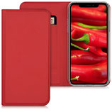 Flip Cover Hülle Apple iPhone X Rot