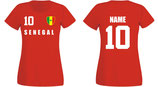 Senegal WM 2018 T-Shirt Damen Rot