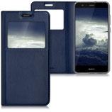 Flip Case Huawei P10 Lite Fenster Dunkelblau
