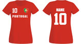 Portugal WM 2018 T-Shirt Damen Rot