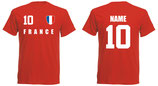 Frankreich WM 2018 T-Shirt Kinder Rot