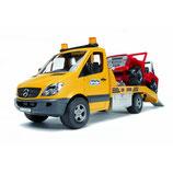 Bruder 2535 - MB Sprinter Autotransporter mit Geländewagen