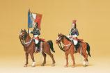 Preiser 10460 Garde Républicaine zu Pferd, Fahnenträger H0