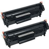 2x Toner Schwarz HP 12A Q2612A Laserjet