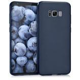 TPU Silikon Case Samsung Galaxy S8+ Blau matt