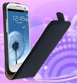 Leder Tasche Galaxy SIII Flip Case Schwarz Samsung Galaxy S3 i9300