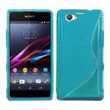Case S-Line Sony Xperia Z1 Compact Blau