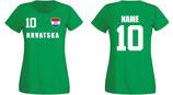 Kroatien WM 2018 T-Shirt Damen Grün