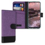 Wallet Case Huawei P40 Lite Canvas Violett