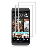 2x Panzerglas Displayschutz HTC One M9 Klar