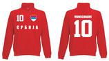 Serbien Pullover WM 2018 Druck/Name Rot