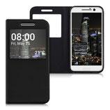 Flip Case HTC 10 Schwarz mit Fenster